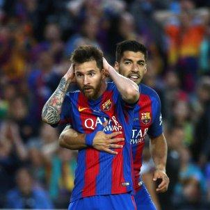 Leo Messi Luis Suarez Barça Eibar Lliga Santander Camp Nou EFE