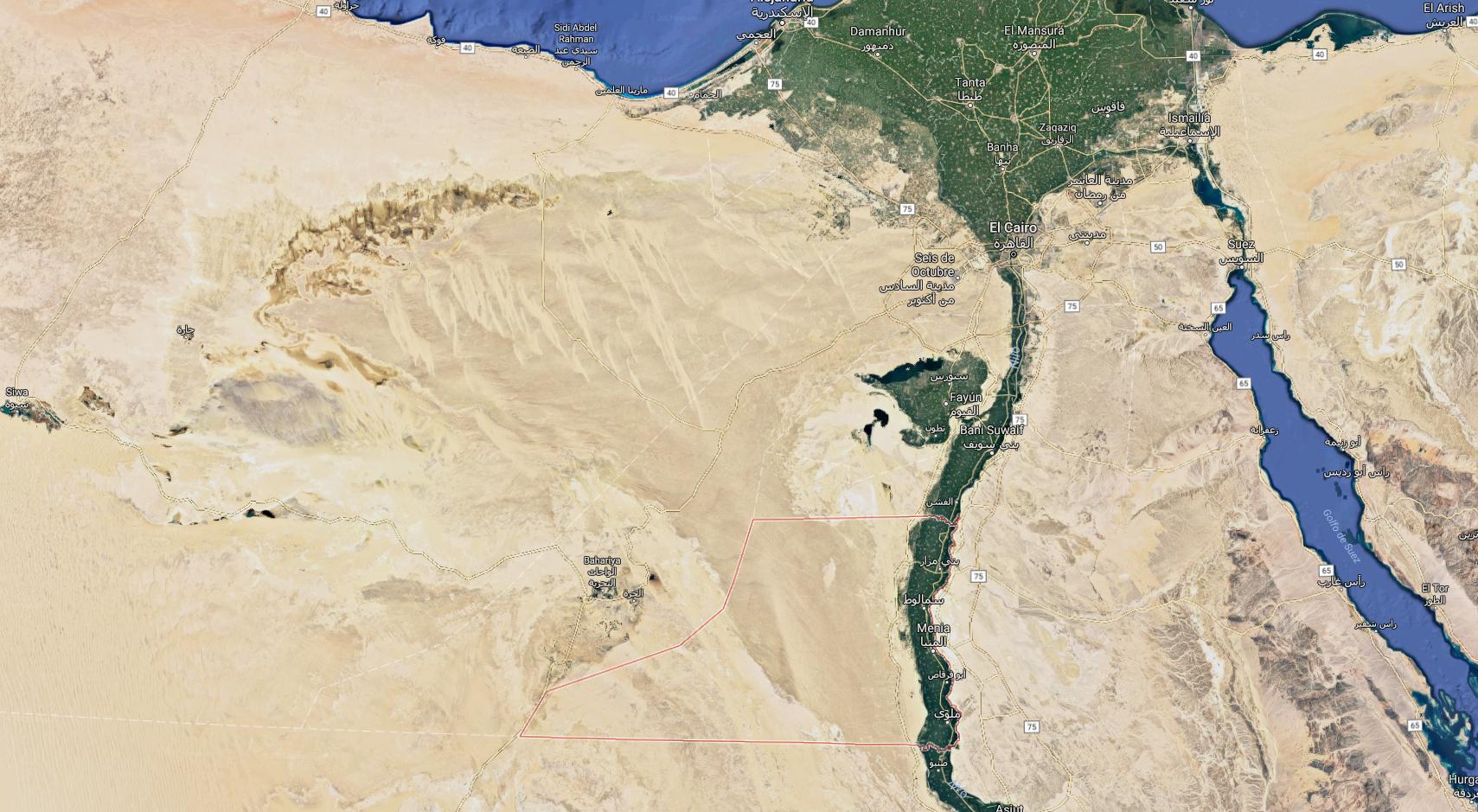 egipte google maps