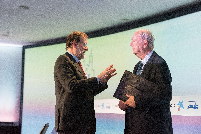 Mariano Rajoy i Juan Jose Bruguera Cercle d'Economia Sitges