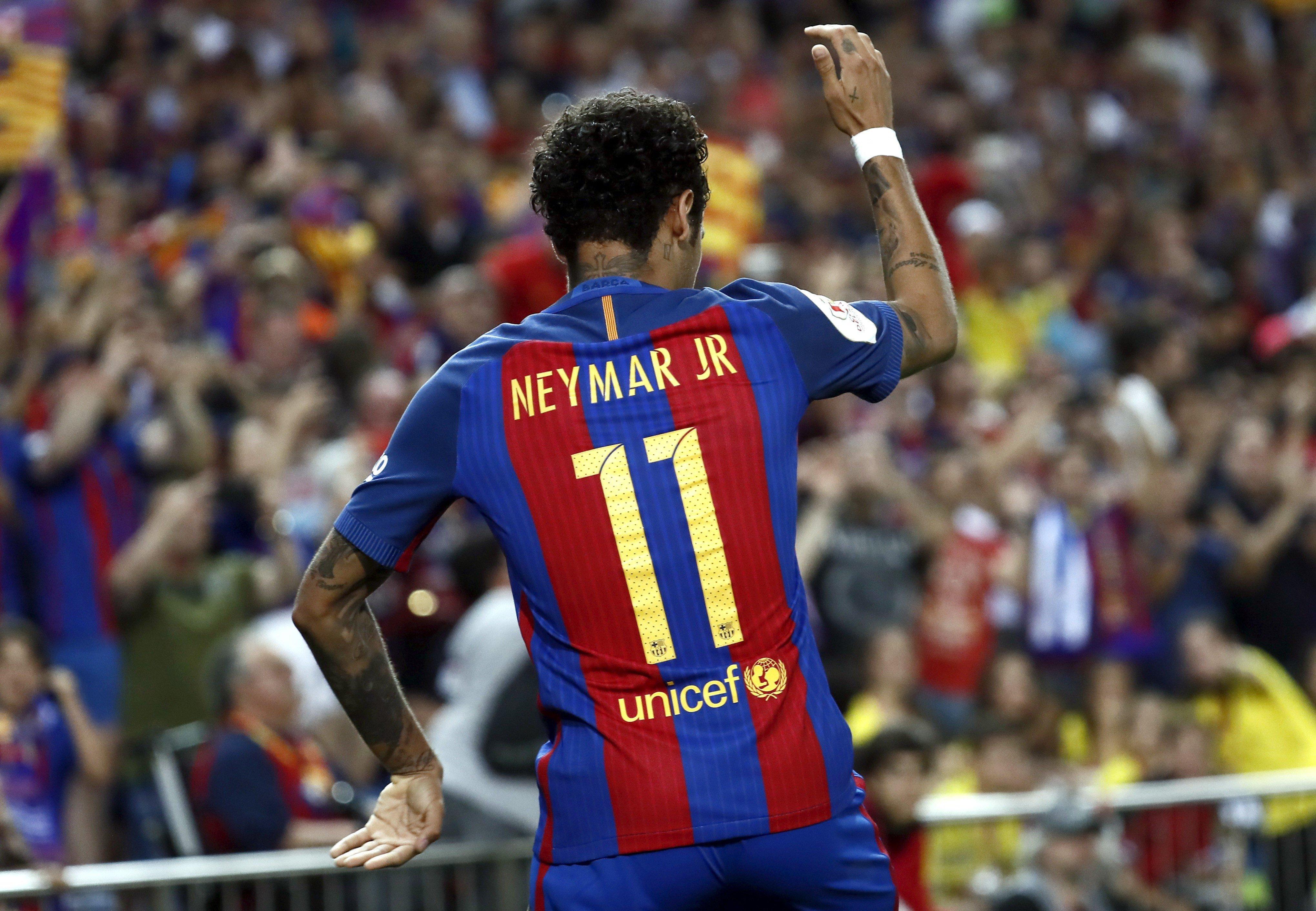 Neymar celebracio gol Barça Alabes EFE