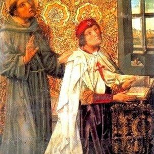 Mor Alvaro de Luna. Amb les robes de Gran Mestre de l'Orde de Santiago, distinció que va arrabassar a Enric de Trastàmara