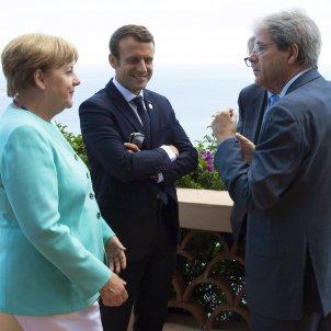 Merkel Macron Gentiloni - EFE