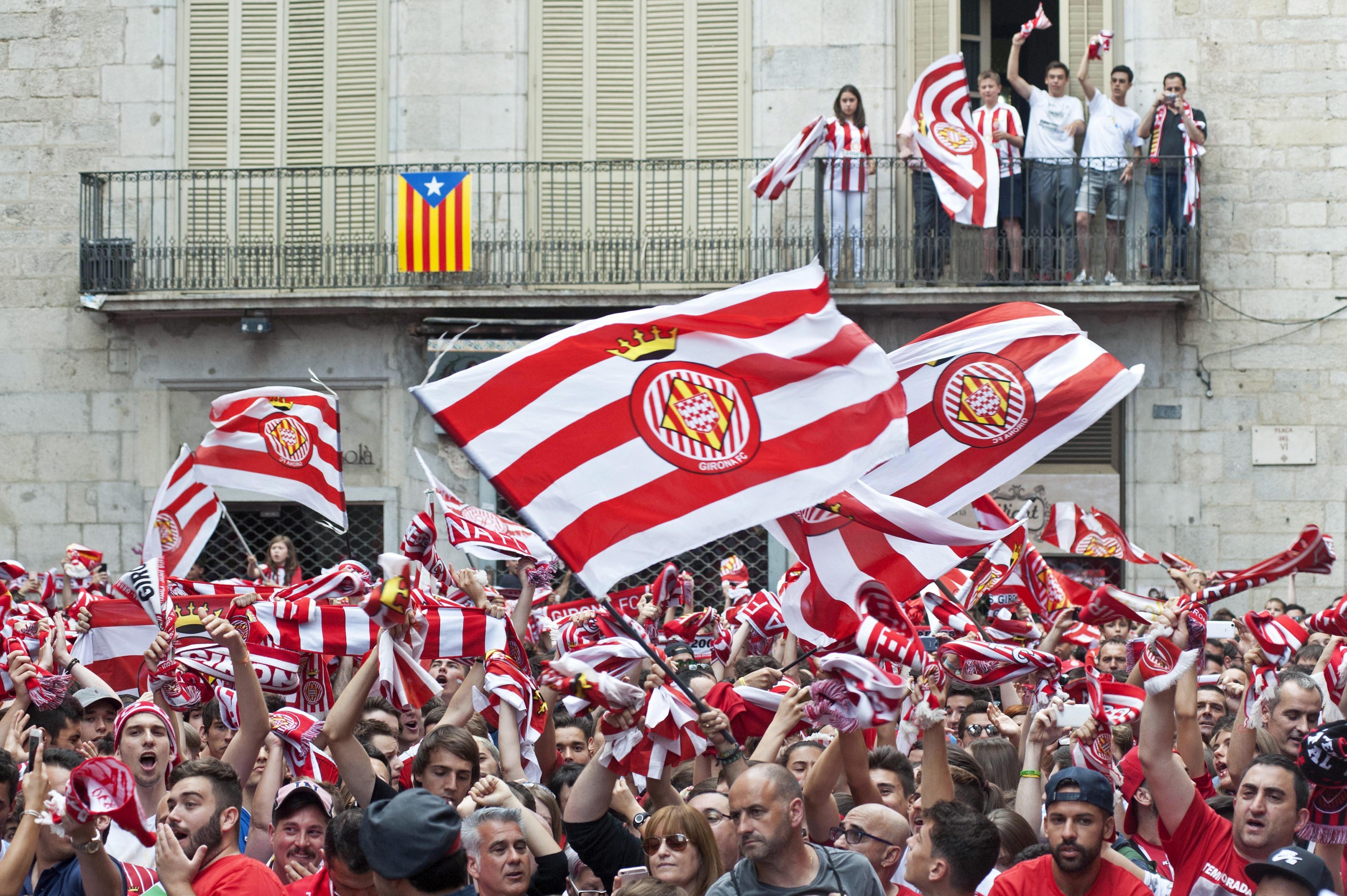 Girona celebració ascens   EFE