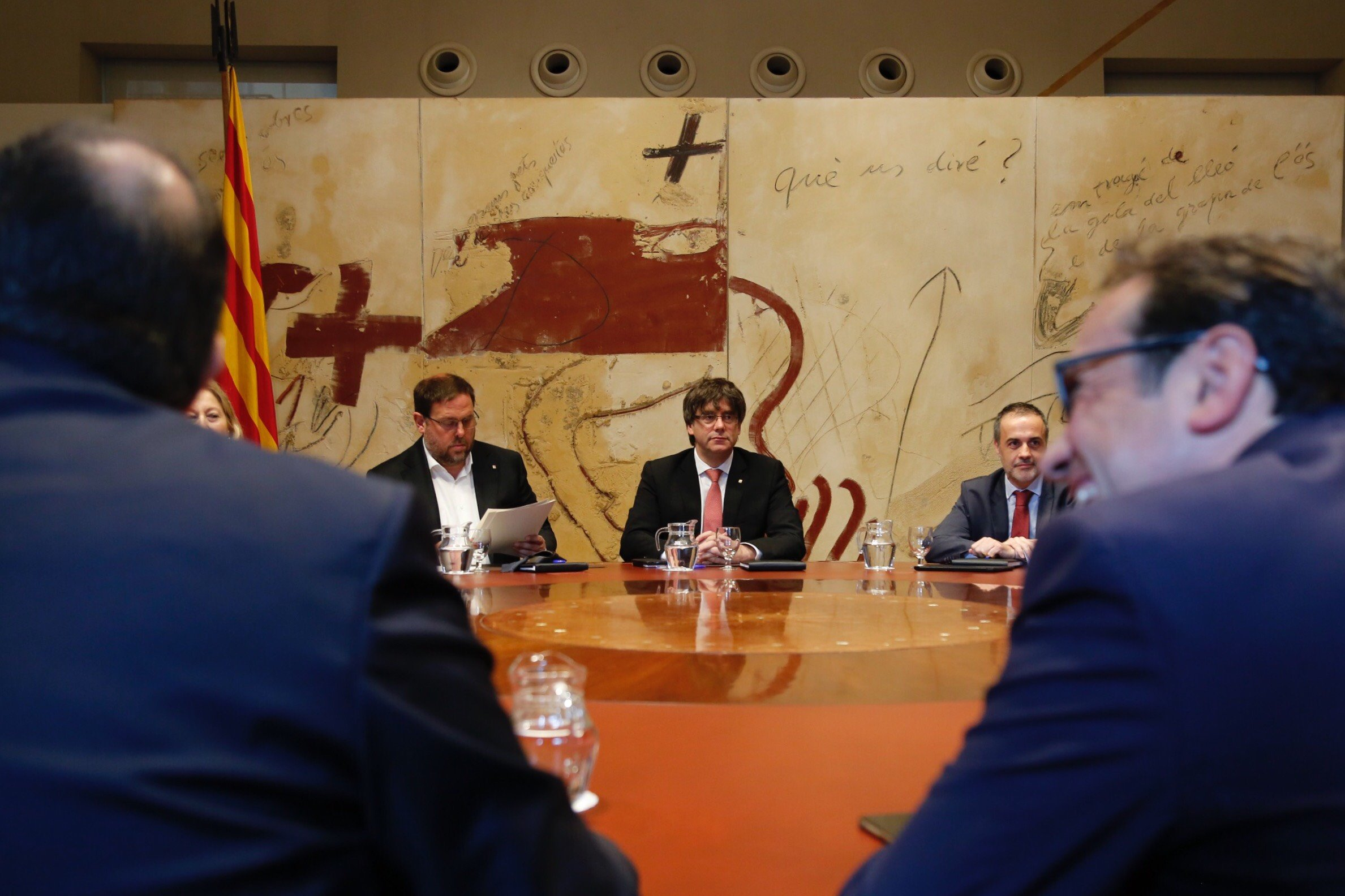 Puigdemont Junqueras Govern data pregunta - Sergi Alcàzar