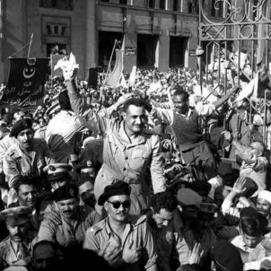Nasser and RCC members welcomed Alexandria 1954 Wikimedia 1500px