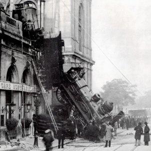 Xoc de trens estació Montparnasse 1895 (Lévy & Fils)