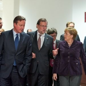 Rajoy Merkel Cameron