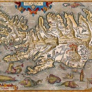 El volcà islandés que va provocar una epidèmia de fam a Catalunya. Mapa d'Islàndia. Finals del segle XVI