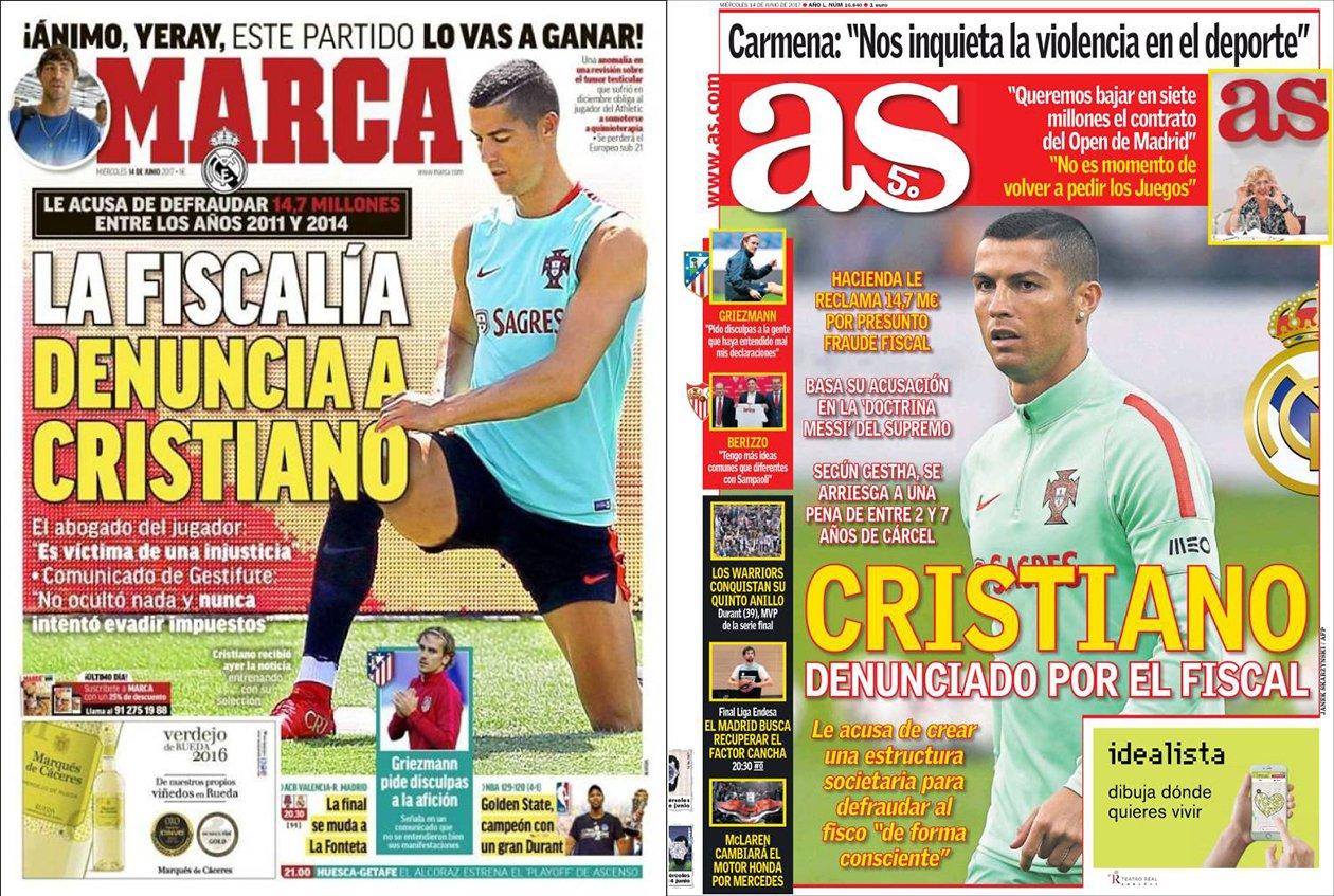 Cristiano ronaldo juega con portugal para la prensa de madrid for El marca del madrid