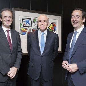 Jordi Gual Isidre Fainé Gonzalo Gortázar La Caixa 20160630 2