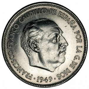 Franco Franco Moneda (1949) Wikimedia Commons