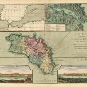 Canvi de cromos entre britanics i hispanics. Mapa anglès de Menorca (1794)