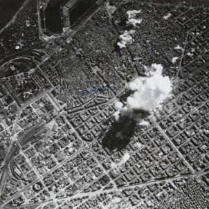 Guerra civil. Bombardeig sobre Barcelona el 17 març 1938