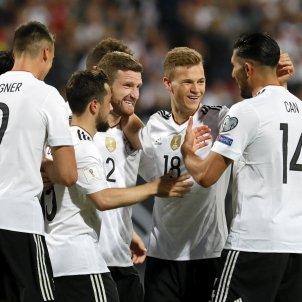 Celebració gol Alemanya classi Mundial Russia 2018   EFE