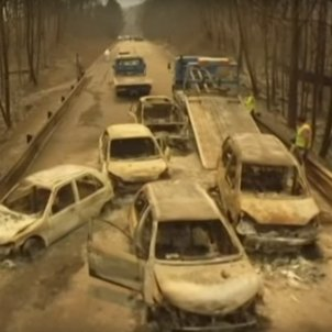 imatges dron incendi portugal