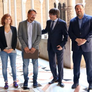 Puigdemont, Junqueras, Domènech, Alamany ACN