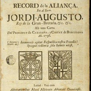 Tractat de Génova. Edició de 1736. Font Museu d'Història de Catalunya
