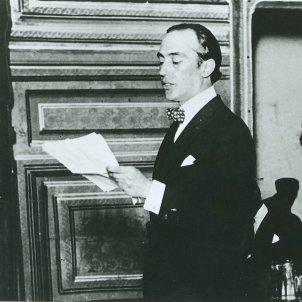 Deodoro Roca. Pronunciant el Manifiesto Liminar. Font Wikipedia