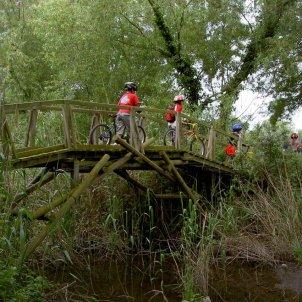 """Ruta dels Estanys, pont de """"Da Vinci"""" sobre a Mugueta"""