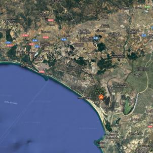 Incendi de Doñana / Google Maps