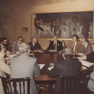 Tarradellas i primer govern Eugenio Diputació de Barcelona
