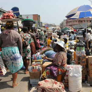Mercat Macola, Àfrica, Accra, Ghana benggriff