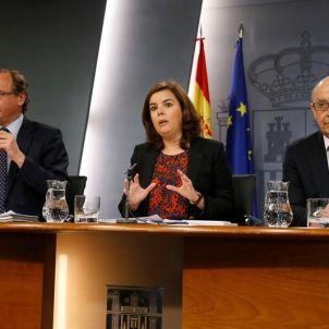 Soraya Saenz de Santamaria-Cristobal Montoro-PP-efe