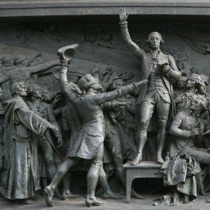 RUI Le serment du Jeu de paume 1789 Haut relief en bronze de Léopold Morice