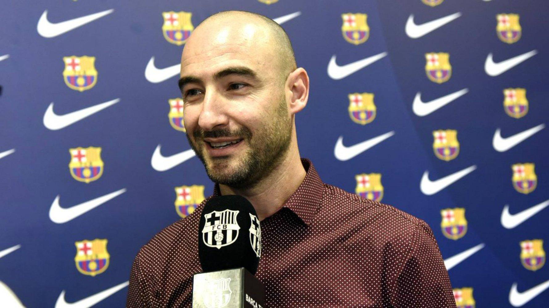 Fran Sanchez presentació FC BARCELONA