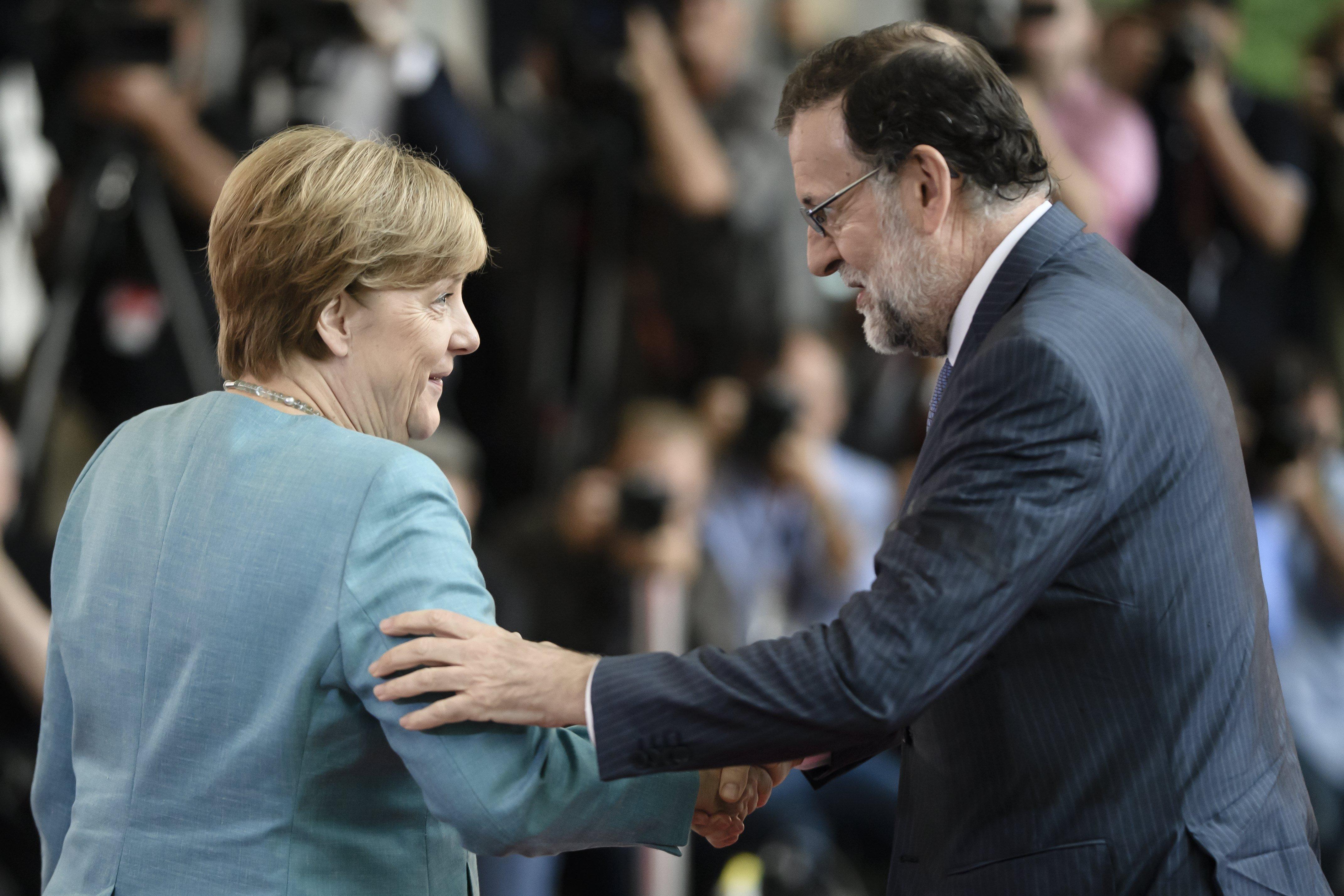 Mariano Rajoy Angela Merkel - EFE