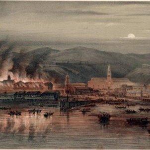 Il·lustració incendi Valparaiso. Font Biblioteca Nacional de Chile (1)