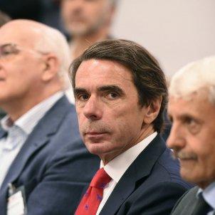 Aznar en un acto de la FAES / Efe