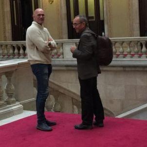 Romeva i Coscubiela enraonen aquest migdia al Parlament/QS