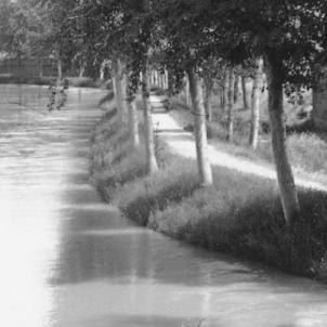 Canal d'Urgell. Circa 1900. Font Institut Català de Cartografia. Arxiu Reparaz