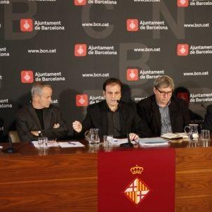 La roda de premsa d'en Jaume Asens, aquest matí.