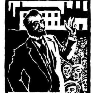 Obre portes l'Ateneu Enciclopedic Popular. Cartell de Fontseré. Font Ateneu Enciclopedic Popular