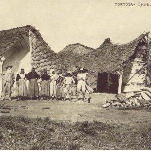 Habitatges dels colons del Delta. Finals del segle XIX. Font Centre Intrepretació Les Barraques del Delta