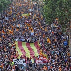 Som una nació, nosaltres decidim. Manifestació. Font Omnium Cultural