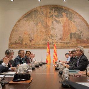Reunió de la junta de seguretat de Catalunya amb el ministre d'interior Juan Ignacio Zoido, el conseller d'interior Jordi Jané i Puigdemont