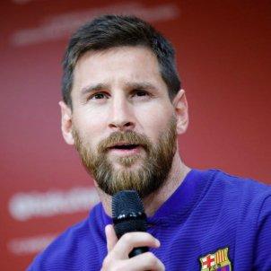 Leo Messi presentació Rakuten   FCB