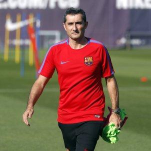 Ernesto Valverde entrenament Barça pretemporada   FCB