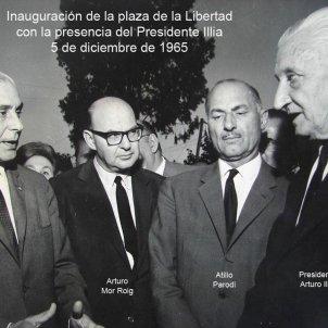 Assassinen Mor i Roig, el lleidatà que va ser ministre d'interior argentí. Mor i Roig amb el president de la República. Font Municipalidad de San Nicolás