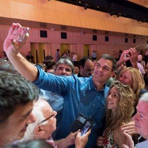 Acte de proclamació de Miquel Iceta com a candidat a la presidència de la generalitat amb Pedro Sánchez, Laura Gómez