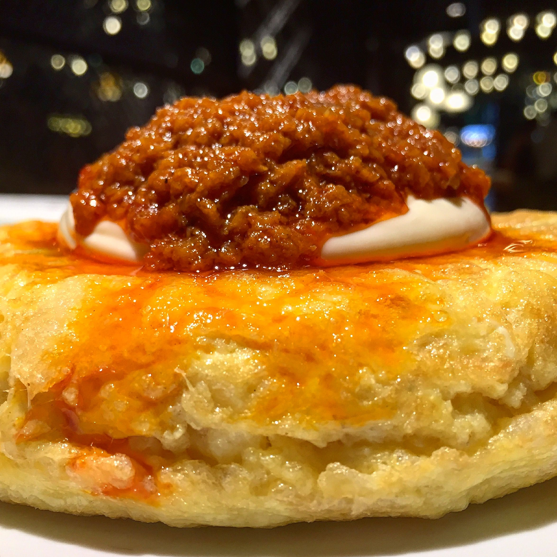 Truita de patates amb salsa brava