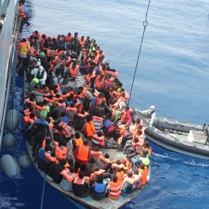 Rescat de refugiats a la Mediterrània, juny 2015. Forces Defensa Irlanda