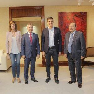 Urkullu & Sánchez. Europa Press.
