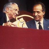 Samaranch, Juan Carlos I y Fidel Castro / EFE