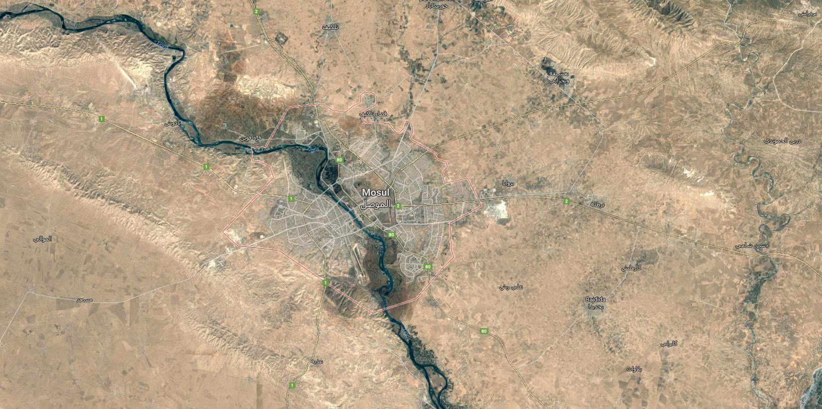 mosul google maps