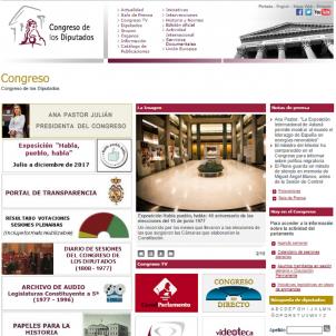 Congreso de los Diputados web