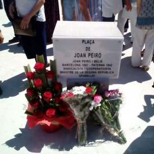 Joan Peiró placa Gustau Nerín